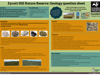 Eycott Hill Nature Reserve - Geology question sheet