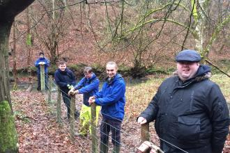 Woodland restoration with Carlisle Youth Zone