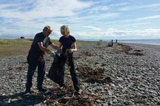 image of marine litter beach clean at south walney nature reserve