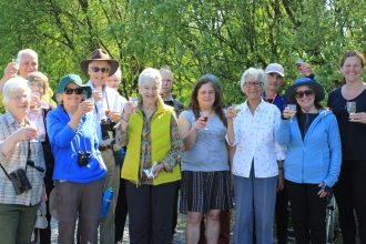 Image of 20th anniversary walk at Foulshaw Moss Nature Reserve