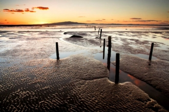 image of Receding tide on the Solway -copyright Fred Bell