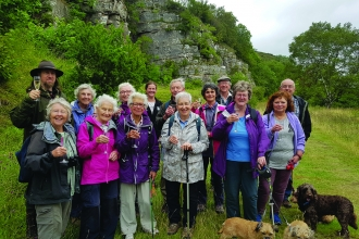Image of supporters at 40th anniversary of Smardale Nature Reserve