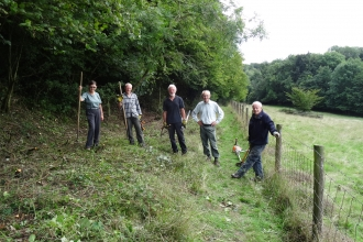 Brown Robin Nature Reserve volunteers cutting back undergrowth