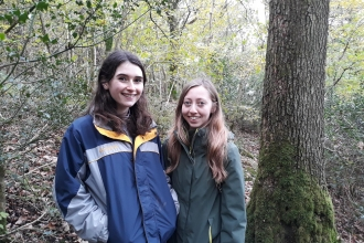 Jade Allen and Melanie Shears - apprentice conservation officers October 2018