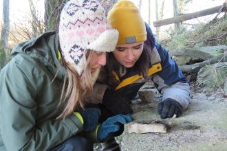 Apprentice Conservation Officers learning to track otters