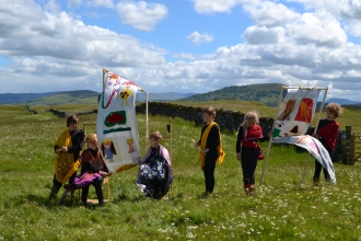 Penruddock Primary School at Eycott Hill Nature Reserve © Prism Arts
