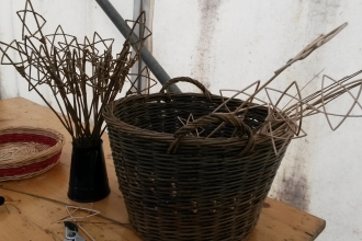 Willow weaving workshop at Eycott Hill Nature Reserve Discovery Day