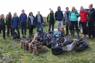 Orsted beach clean at South Walney