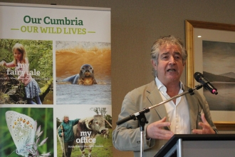 Image of Tony Juniper at Cumbria Wildlife Trust  Uplands Conference February 2020