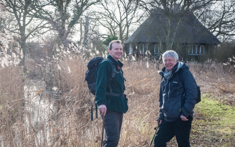 Andrew & Adrian with their walking gear on a reserve