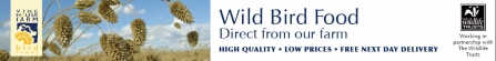 Banner image promoting Wild bird food by vine house farm