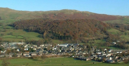 Landscape photo of Craggy Wood sat above Staveley village in Cumbria