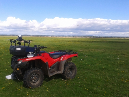 Quad bike on Rockcliffe Marsh