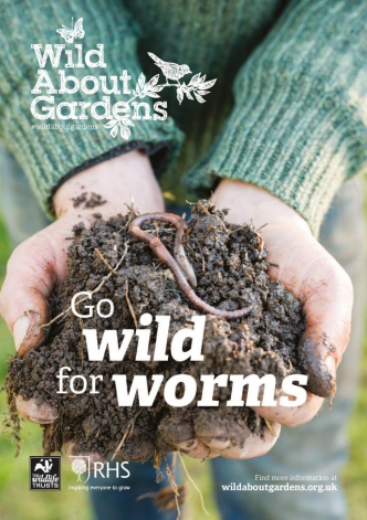 image of earth worms gardening guide front cover