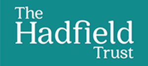 The Hadfield trust logo - green and white