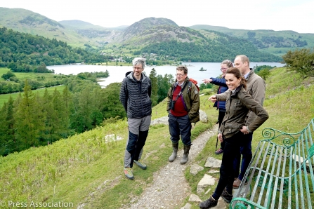 Cambridges meet with staff and volunteers in Patterdale