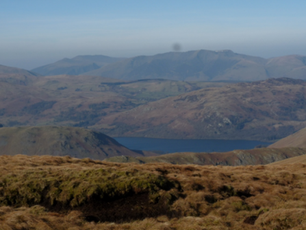 Image of view across Martindale and Ullswater to Helvellyn