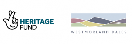 Heritage fund logo and Westmorland Dales logo