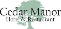 cedar manor hotel and restaurant logo
