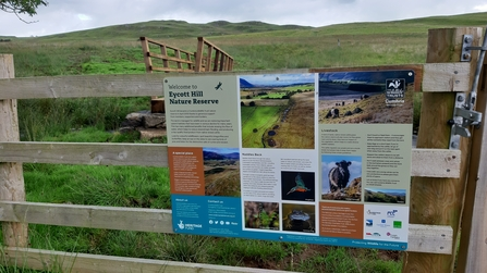 Image of new interpretation panel at Eycott Hill Nature Reserve © Nichola Jackson