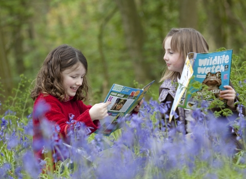 image of Wildlife Watch kids reading magazine - copyright tom marshall